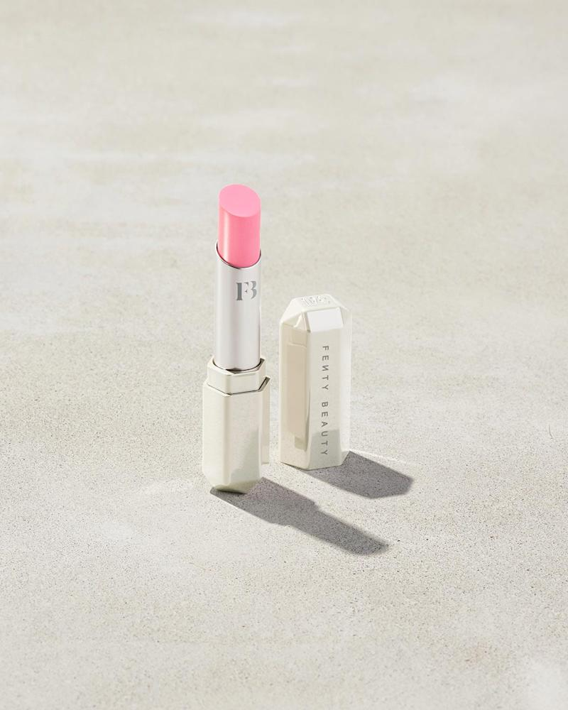 Slip Shine Sheer Shiny Lipstick in $uga Kiss. Image via Fenty Beauty.