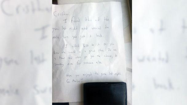 Lost Wallet Returned With $20 and a Heartwarming Note