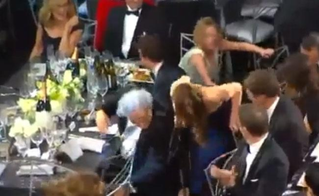 Oops! Did Jennifer Lawrence Rip Her Dior Couture Dress At The 2013 SAG Awards?