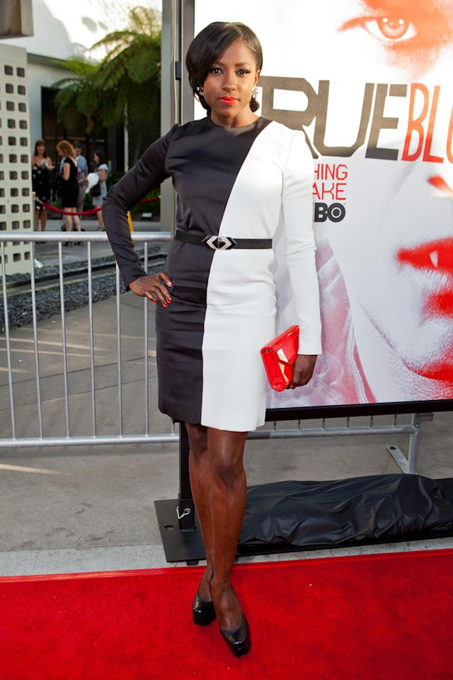 "Rutina Wesley attends HBO's ""True Blood"" Season 5 Los Angeles premiere at ArcLight Cinemas Cinerama Dome on May 30, 2012 in Hollywood, California."