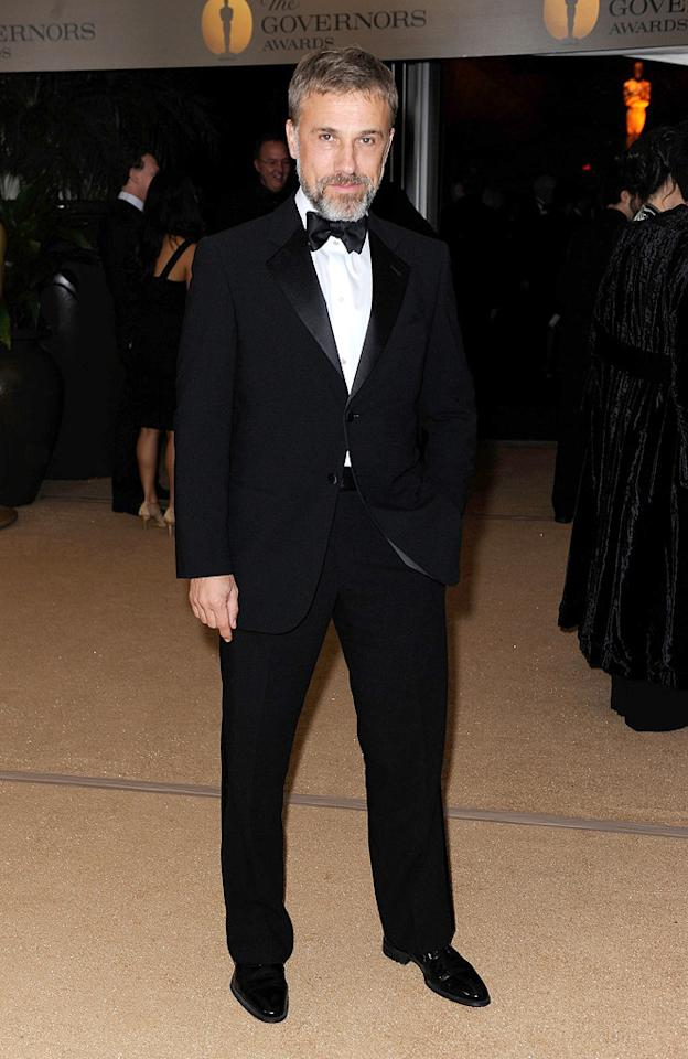 """<a href=""""http://movies.yahoo.com/movie/contributor/1809655132"""">Christoph Waltz</a> at the Academy of Motion Picture Arts and Sciences' Inaugural Governors Awards - 11/14/2009"""