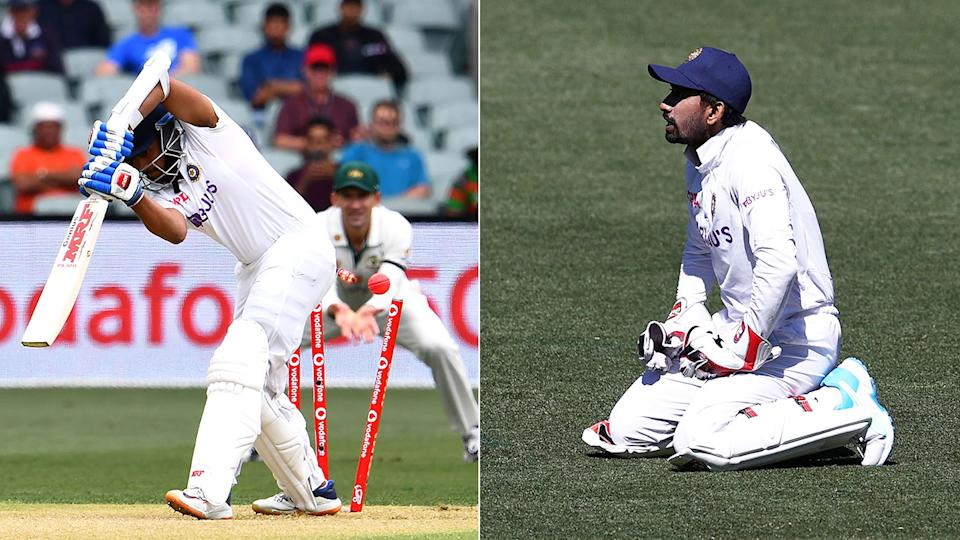 Seen here, out-of-form India stars Prithvi Shaw and Wriddhiman Saha during the first Test against Australia.