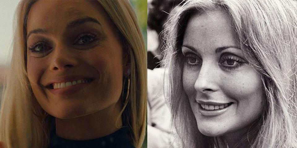 """<p>For Quentin Tarantino's <em>Once Upon a Time in Hollywood</em>, Robbie channeled the late Sharon Tate. The actress was credited by the Tate family for her brilliant portrayal of the '60s icon, who was a victim of the Manson murders. """"I actually got to see my sister again...nearly 50 years later,"""" Debra Tate told <em><a href=""""https://www.vanityfair.com/hollywood/2019/07/once-upon-a-time-in-hollywood-margot-robbie-sharon-tate"""" rel=""""nofollow noopener"""" target=""""_blank"""" data-ylk=""""slk:Vanity Fair"""" class=""""link rapid-noclick-resp"""">Vanity Fair</a>. </em></p>"""