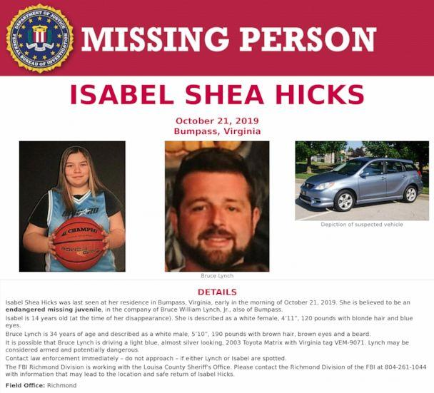 PHOTO: A missing poster for Isabel Hicks. (FBI)