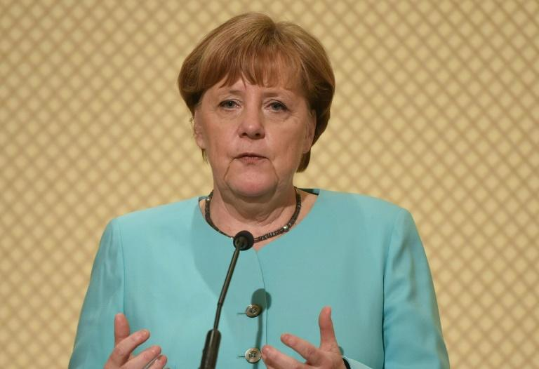 German Chancellor Angela Merkel denies having a hand in the decision to ban rallies by Turkish ministers