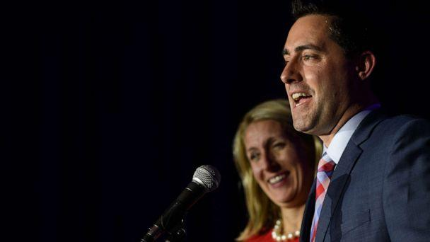 PHOTO: Frank LaRose gives his victory speech after winning the election for Ohio Secretary of State on Nov. 6, 2018, in Columbus, Ohio. (Justin Merriman/Getty Images, FILE)