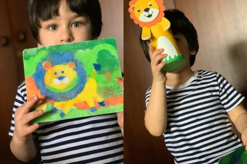 Kareena Kapoor Khan Flaunts the Painting Made by 'In House Picasso' Taimur