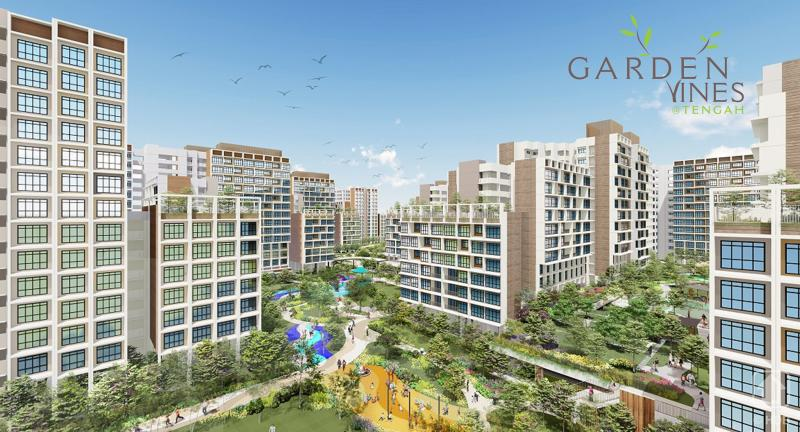 Artist impression of Garden Vines@Tengah. (SOURCE: HDB)