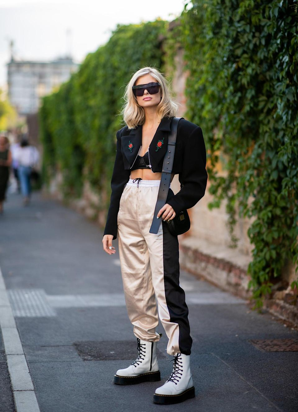 <p>A Scorpio needs a hair color that's sophisticated and powerful, like their personality. You'll love a bright platinum blond hue because it matches the rest of your polished, chic look.</p>