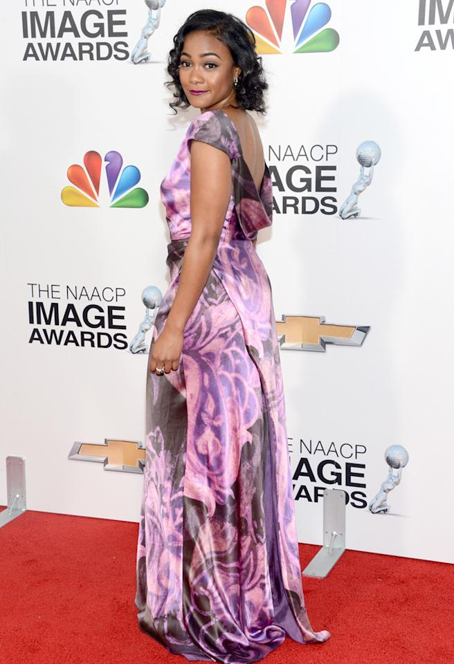 LOS ANGELES, CA - FEBRUARY 01: Actress Tatyana Ali arrives at the 44th NAACP Image Awards held at The Shrine Auditorium on February 1, 2013 in Los Angeles, California. (Photo by Jason Kempin/WireImage)