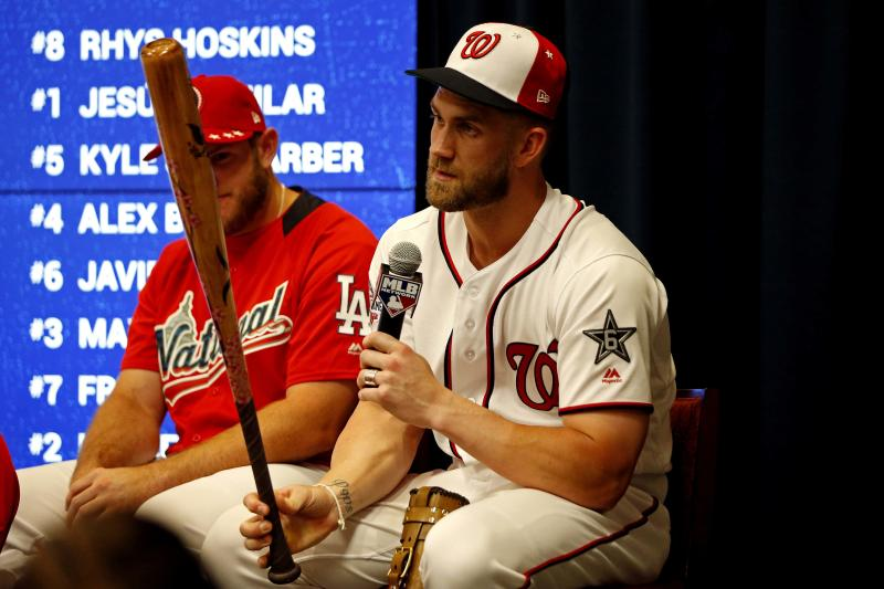 Bryce Harper headlines Home Run Derby (Harper wins 19-18)