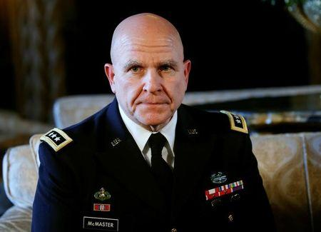 Trump announces Army Lt. Gen. H.R. McMaster as his National Security Adviser at his Mar-a-Lago estate in  Palm Beach, Florida