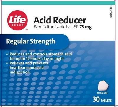 Acid Reducer (ranitidine) sold under the brand name LifeBrand (CNW Group/Health Canada)
