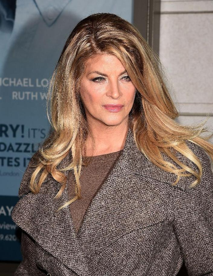 Actress Kirstie Alley, seen in January 2015, was among the small but vocal group of celebrities who supported Republican Donald Trump for US president (AFP Photo/Andrew H. Walker)