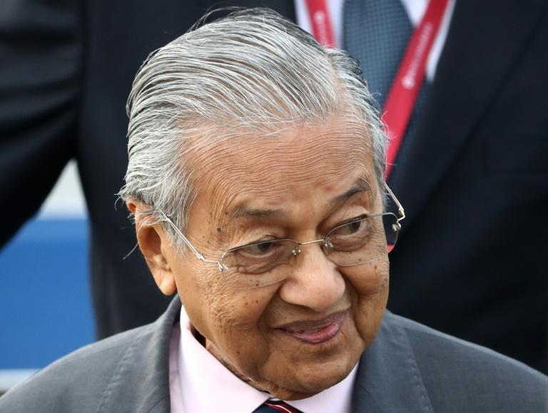 Malaysia's Prime Minister Mahathir Mohamad, seen here in September 2019, has criticized the international use of sanctions