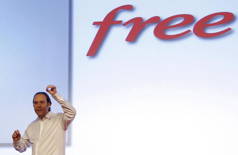 FILE - In this Jan.10, 2012 file photo, Xavier Niel , the French internet billionaire and founder of the Internet provider Free delivers his speech in Paris. France's government says Monday, Jan.7, 2013 it has persuaded the leading Internet provider to stop blocking online advertisements, a controversial move that would have hit online search giants such as Google. Free last week started automatically blocking ads for some users. Many Internet companies such as Google earn big revenues from such ads while offering searches or other services for free. (AP Photo/Jacques Brinon, File)