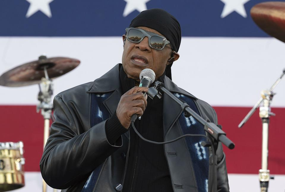Stevie Wonder said  'we must vote justice in and injustice out'Getty