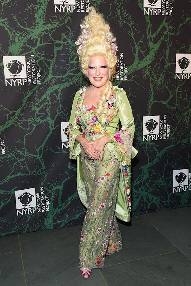 <p>The <em>Hocus Pocus</em> star was more bewitching than witchy at her 2017 Hulaween bash for a good cause. (Photo: Presley Ann/Patrick McMullan via Getty Images) </p>