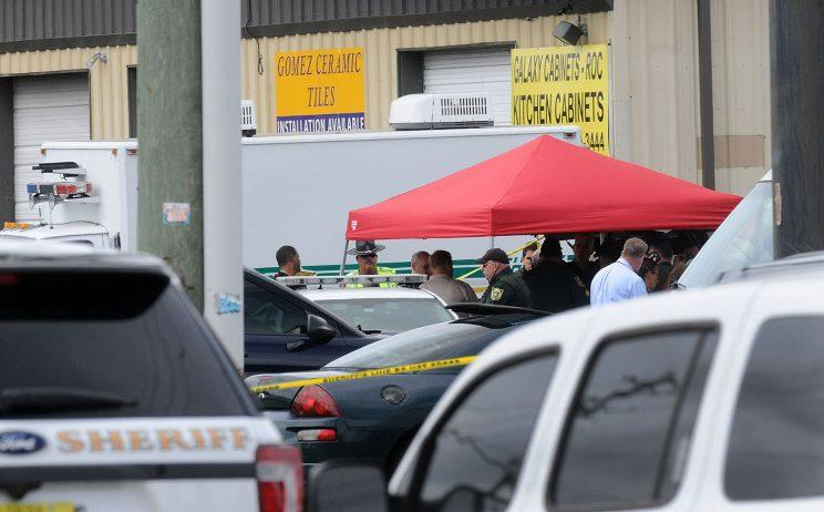 Investigators work the scene of a multiple shooting at an area business in an industrial area on June 5, 2017 northeast of downtown Orlando, Florida. (Photo: Gerardo Mora/Getty Images)