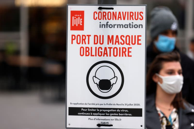 French coronavirus infections set new record above 20,000 per day
