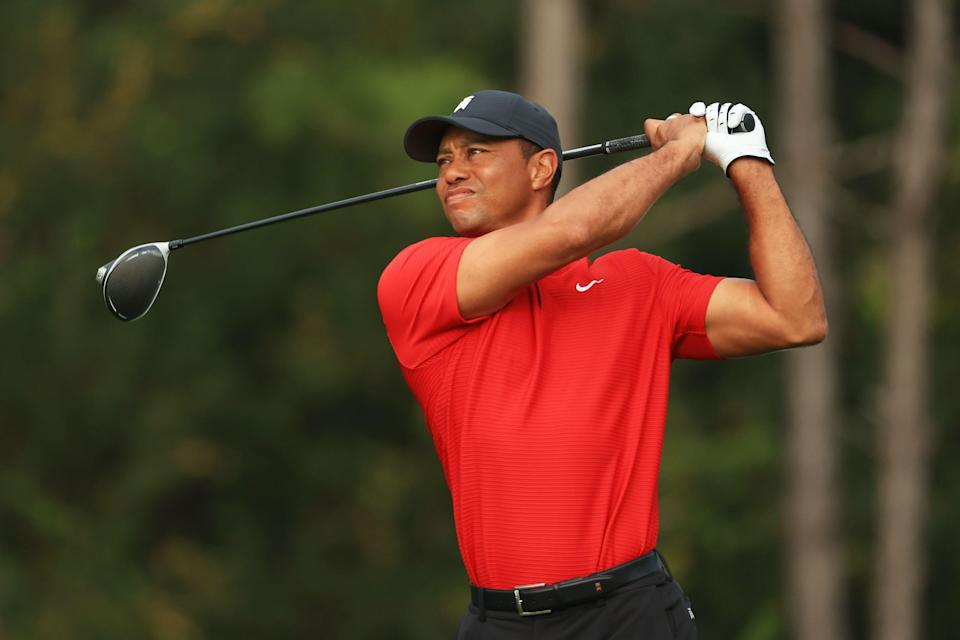 Golfing legend Tiger Woods has been hospitalised with injuries following a car collision in Los Angeles. (Photo: Getty)