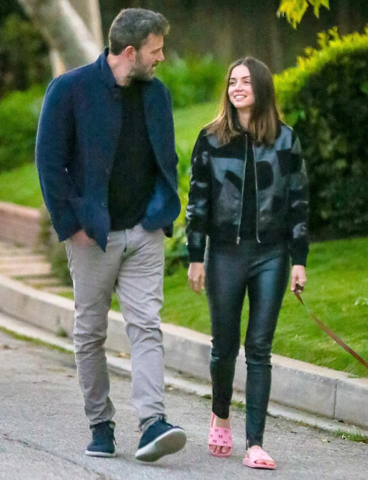 <p>Ben Affleck and Ana de Armas spend some quality time outside on Monday as they go for a walk in the actor's Brentwood, California, neighborhood.</p>