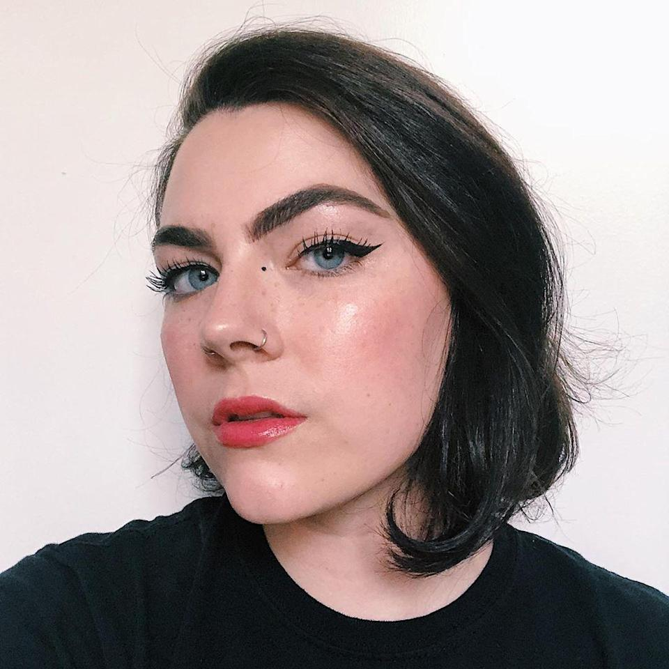 Here's what my brows looked like with my old routine. Great, but tedious. Plus, a lot darker and sharper than they ultimately needed to be.