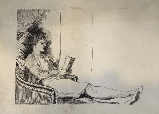 A booklet of nine Miller Brittain sketches sold for $5,500.