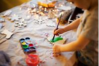 """<p>Looking to replicate some of the fun crafts the kids usually bring home from school? Stage your own afternoon full of themed arts and crafts. There are plenty of <a href=""""https://www.oprahmag.com/life/g23939784/christmas-decorations-ideas/"""" rel=""""nofollow noopener"""" target=""""_blank"""" data-ylk=""""slk:DIY decorations"""" class=""""link rapid-noclick-resp"""">DIY decorations</a> that even toddlers and preschoolers can help make, like painting wooden shapes to make ornaments. </p><p><a class=""""link rapid-noclick-resp"""" href=""""https://www.amazon.com/Max-Fun-Unfinished-Centerpieces-Decorations/dp/B07XKZ5LBD?tag=syn-yahoo-20&ascsubtag=%5Bartid%7C10072.g.34454588%5Bsrc%7Cyahoo-us"""" rel=""""nofollow noopener"""" target=""""_blank"""" data-ylk=""""slk:SHOP UNFINISHED WOOD ORNAMENTS"""">SHOP UNFINISHED WOOD ORNAMENTS</a></p>"""