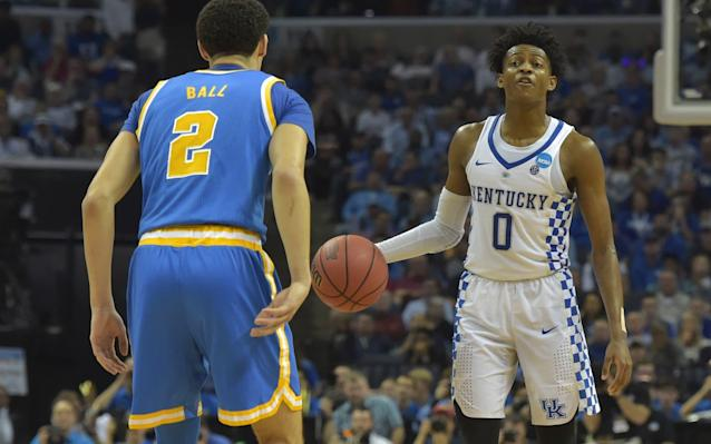 <span>Ball junior was no match for De'Aaron Fox as Kentucky brushed aside UCLA</span> <span>Credit: Justin Ford/USA Today Sports </span>