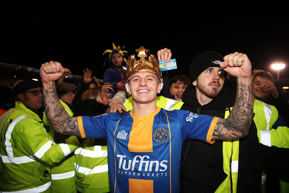 Jason Cummings and Shrewsbury Town are approaching the FA Cup very differently than Liverpool. (Photo by Nick Potts/PA Images via Getty Images)
