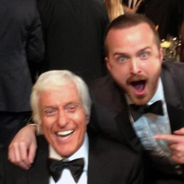 It is literally all happening right now. I love you Dick. Congratulations on tonight. Amazing honor. #SagAwards - @aaronpaul_8