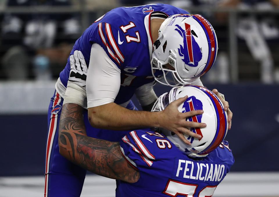 It's time to take Josh Allen and the Bills seriously. (Photo by Ronald Martinez/Getty Images)