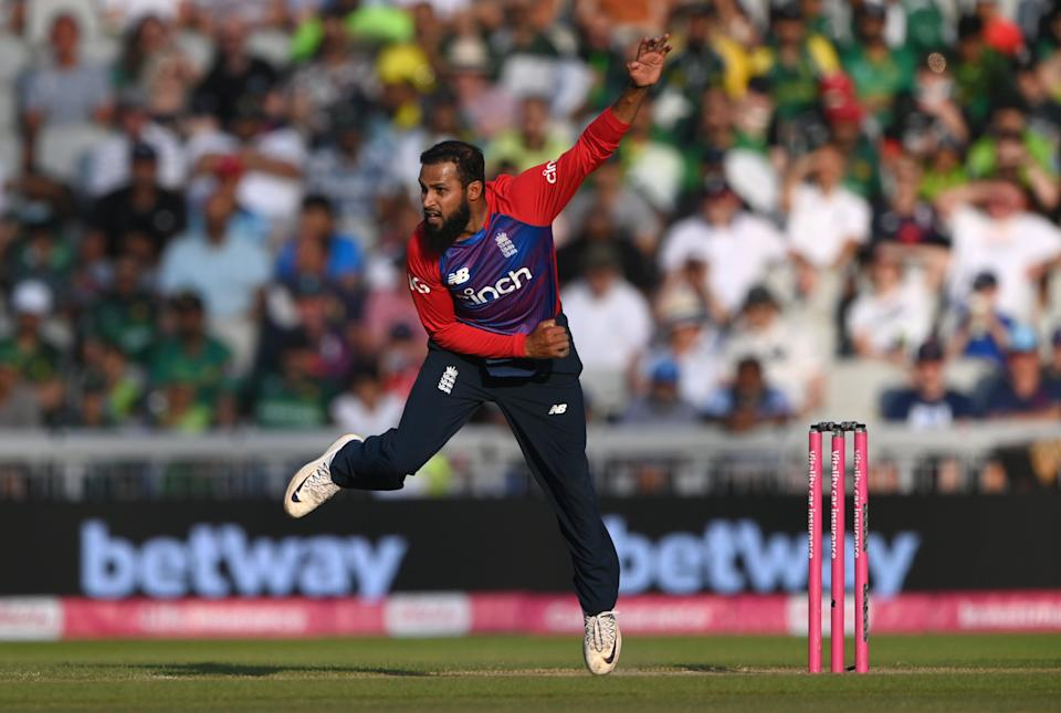 Rashid is now level for second place on England's list of T20 wicket-takers (Getty Images)