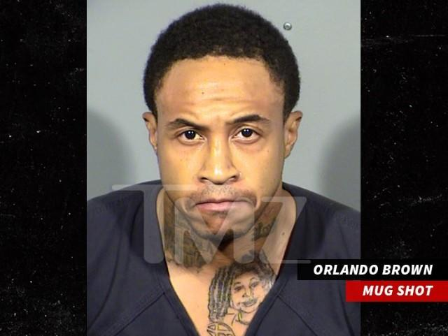 Orlando Brown Sports Raven-Symon Tattoo In New Mugshot-2633