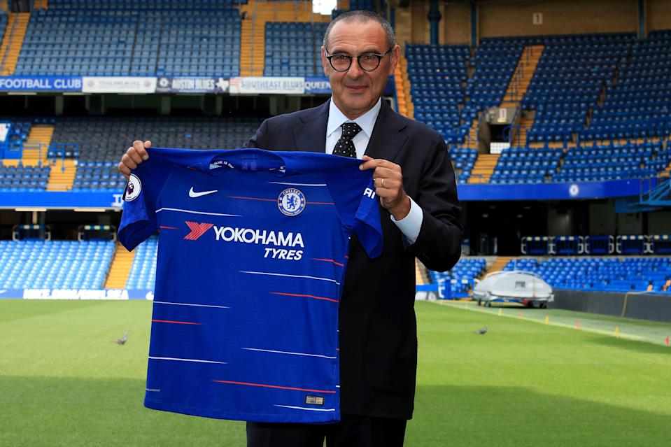 Maurizio Sarri arrives from Napoli as Chelsea's 12th manager in 11 seasons. (Getty)