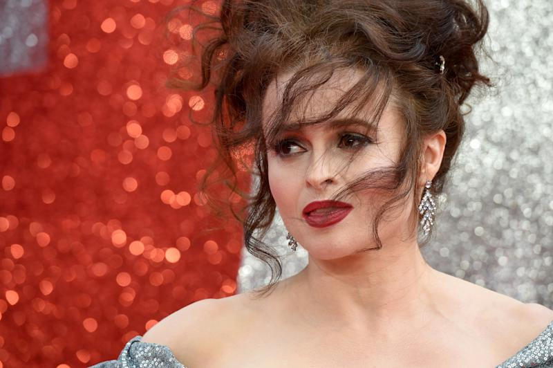 "English actress Helena Bonham Carter poses on the carpet upon arrival to attend he European premiere of the film "" Ocean's 8"" in London on June 13, 2018. (Photo by Anthony HARVEY / AFP) (Photo credit should read ANTHONY HARVEY/AFP/Getty Images)"