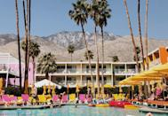 "<p>Palm Springs is a trendy destination, so naturally you'll be drawn to it. Stay at <a href=""http://thesaguaro.com/palm-springs/"" class=""link rapid-noclick-resp"" rel=""nofollow noopener"" target=""_blank"" data-ylk=""slk:The Saguaro Palm Springs"">The Saguaro Palm Springs</a>, a colorful boutique hotel that's located in Coachella Valley among the mountains with an outdoor pool and delicious restaurants. Beyond relaxing at the pool, visitors can check out art museums, waterfalls, gardens, and more.</p>"