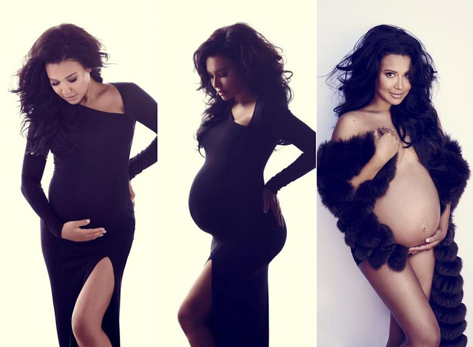 """<p>Former """"Glee"""" star Naya Rivera posed nude for Yahoo Style. Talking about her decision to do the shoot she said: """"Pregnancy is such a beautiful time to me, and I feel like you should embrace your body in whatever stage it's in,"""" the mum-to-be said in her interview </p>"""