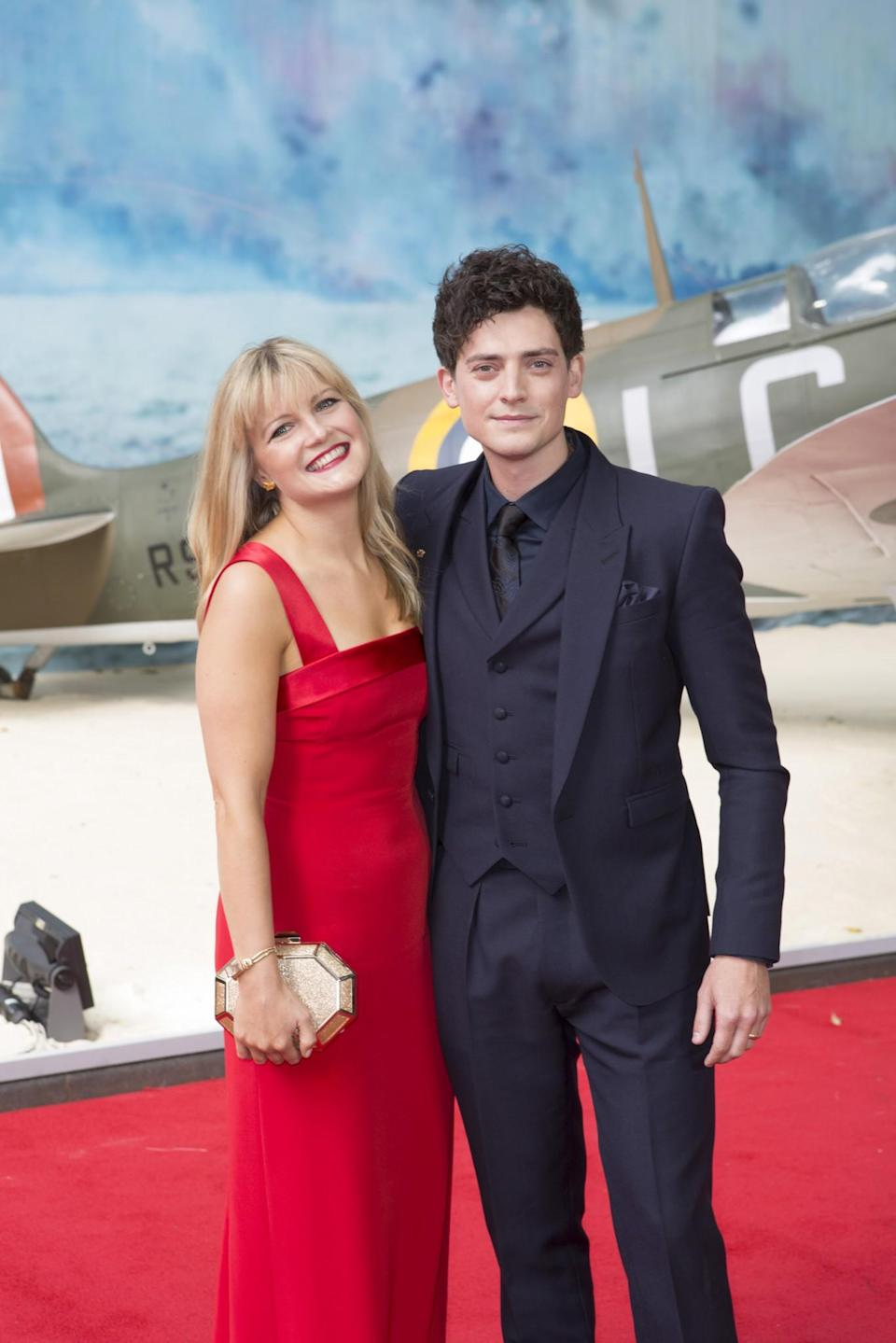 <p>Welsh actor Aneurin Barnard with girlfriend Amy Morgan (WB) </p>