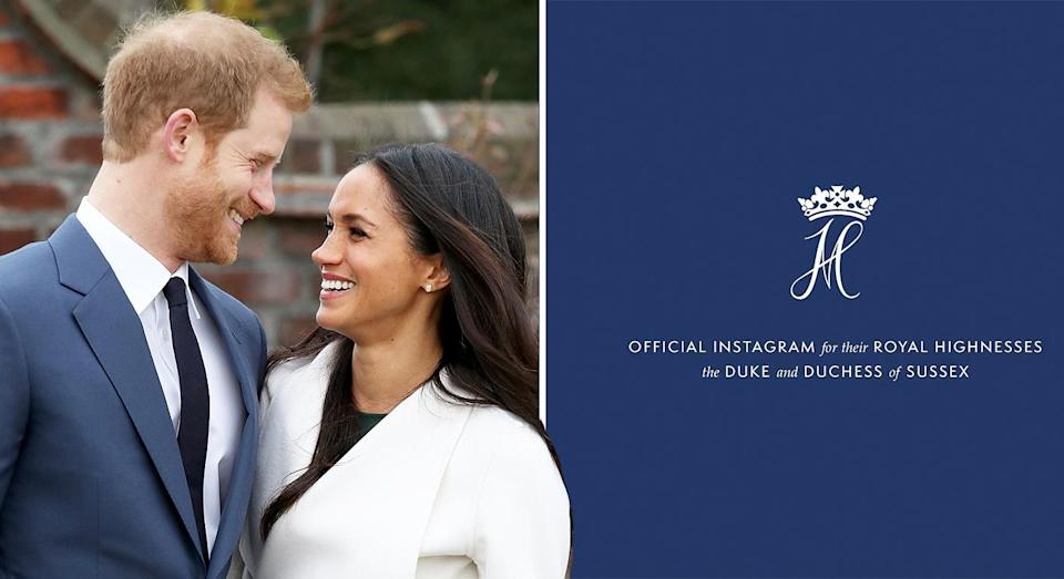 Meghan and Harry have broken aa Guinness World Record. [Photo: Getty/Instagram]