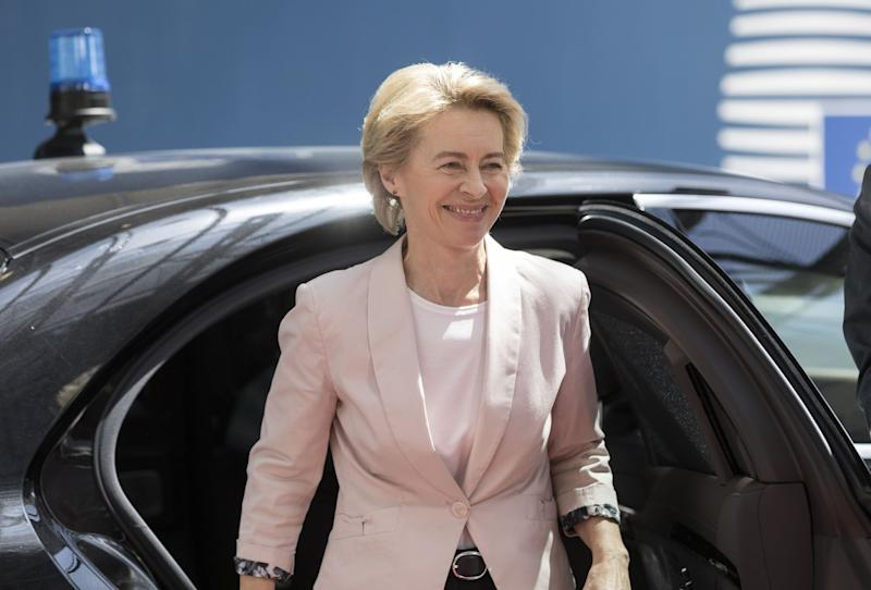 """(Bloomberg) -- Ursula von der Leyen's two-week dash to secure the most powerful policy-making job in the European Union may end with a photo finish.Unexpectedly tapped to head the European Commission after weeks of grueling negotiations by national leaders, the German defense minister and ally of Chancellor Angela Merkel is chasing support among left-leaning factions to put her over the top in a secret ballot Tuesday in the EU Parliament.At least half of the 153 Socialist members will probably support von der Leyen, which would help her surpass the needed majority of 376 votes, according to officials from the faction who asked not to be identified. Von der Leyen's aides expect her to receive about 400 votes, according to a person familiar with their thinking.""""If you vote her down, what's the alternative?"""" said Janis Emmanouilidis, director of studies at the European Policy Centre in Brussels.Von der Leyen's candidacy has ruffled feathers in the parliament because she was not one of the official contenders who campaigned in May's EU elections and because Socialists in the assembly felt they got a raw deal from the back-room dealing that saw her nominated. If her appointment were to be shot down it would mean an unprecedented standoff between lawmakers and heads of government and plunge the bloc into an administrative crisis.""""It's almost too awful to contemplate and, for her detractors, potentially counterproductive were EU leaders to nominate someone even less palatable,"""" Emmanouilidis said.The 60-year-old polyglot is the centerpiece of a European top-jobs package that reasserts the authority of the EU's core countries -- particularly Germany and France -- as the bloc confronts Brexit, U.S. protectionism under President Donald Trump, renewed Russian muscle-flexing and growing Chinese economic heft.The commission's powers include proposing and enforcing EU laws on everything from car emissions to mobile roaming fees, negotiating trade agreements and acting as Europe's"""
