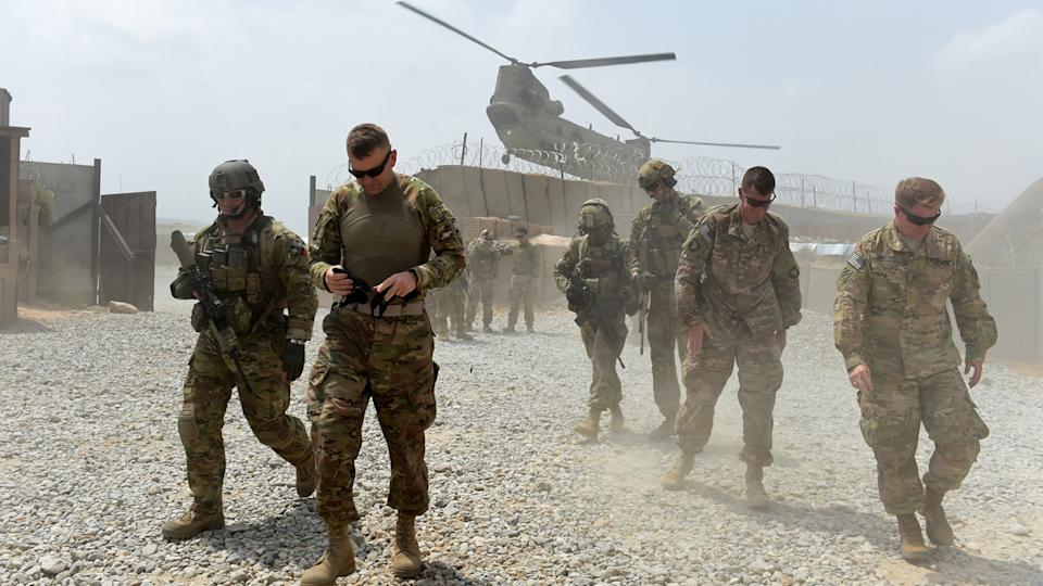 In this photograph taken on August 13, 2015, U.S. Army soldiers in Afghanistan