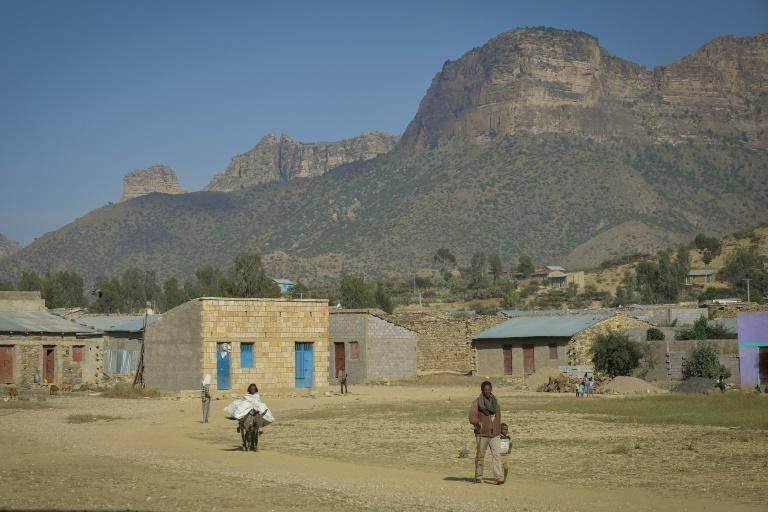 Eritrean refugees still cross into Ethiopia by the hundreds each day. Shown here is the border village of Sebeya (AFP Photo/MICHAEL TEWELDE)