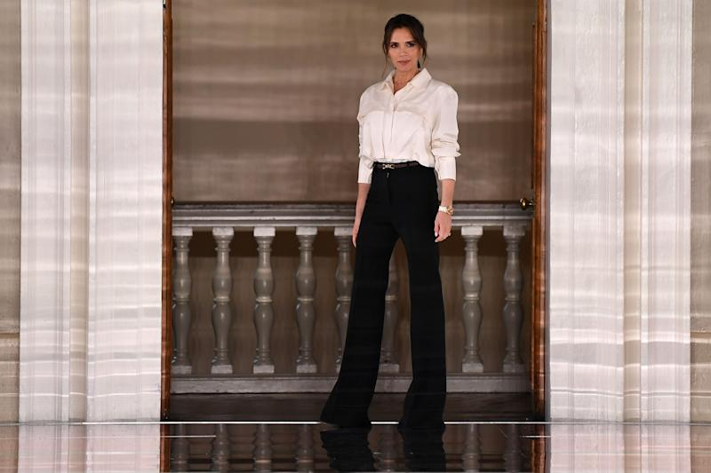Victoria Beckham, pictured at London Fashion Week, February 2020, has enlisted her son's girlfriend as a model. (Getty Images)