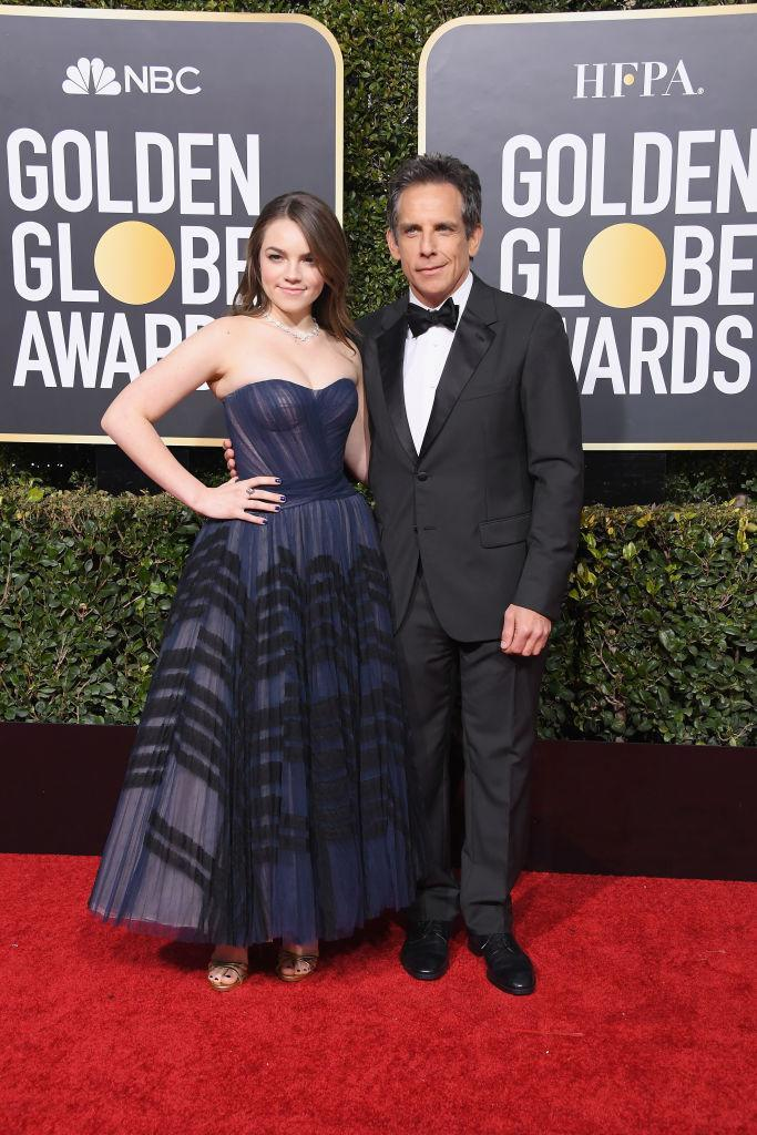 <p>Ella Stiller and Ben Stiller attend the 76th Annual Golden Globe Awards at the Beverly Hilton Hotel in Beverly Hills, Calif., on Jan. 6, 2019. (Photo: Getty Images) </p>