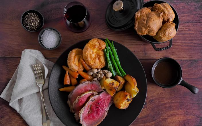 Tenderloin beef roast dinner from The Savoy