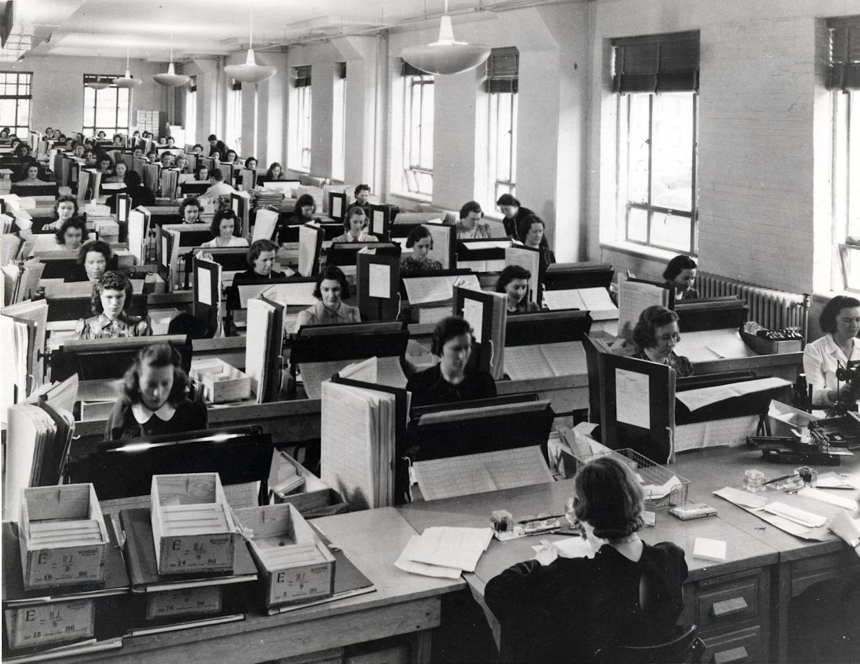 U.S. Census Bureau tabulators record information from the more than 120,000 enumerators who gathered data for the 1940 census. (Photo: National Archives and Records Administration/AP)