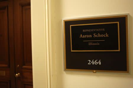 The office of Representative Aaron Schock (R-IL) is seen on Capitol Hill, March 17, 2015. REUTERS/Yuri Gripas