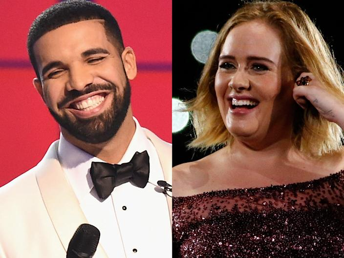 Drake and Adele are fans of each other.